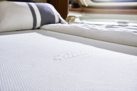 Drap-housse pour lit central / lit pavillon / lit francais - blanc