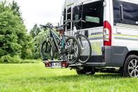 Porte-vélos pliable pour 3 vélos sur attelage de remorque
